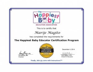 certificaat Marije Magito The Happiest Baby